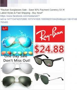 052d63e10d Ayuda! Virus en Facebook publica Fotos de Ray Ban gafas de sol ...
